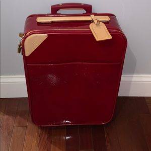 Red Louis Vuitton Suitcase